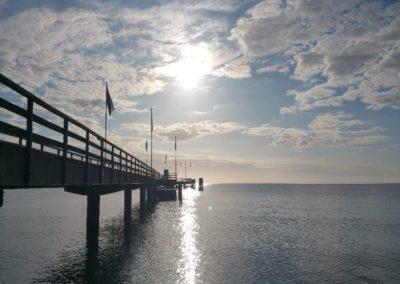 Dahmer Seebrücke: 205 m weit auf die Ostsee